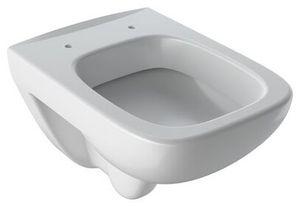 Geberit Wand-Tiefspül-WC Square RENOVA COMPACT verkürzte Ausladung, mit Spülrand weiß