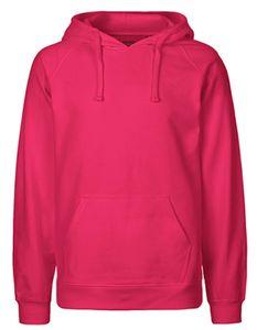 Herren Hoodie / Kaputzenpulli / 100% Fairtrade-Baumwolle - Farbe: Pink - Größe: L