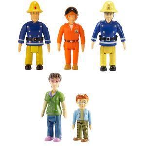 Sam, Elvis, Pilot, Norman & Dilys | Spiel Figuren Set | Feuerwehrmann Sam