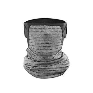 Unisex UV-Schutz im Freien Haengendes Ohr Bandana Gesichtsschutz Halsmanschette Schal Grau 65g