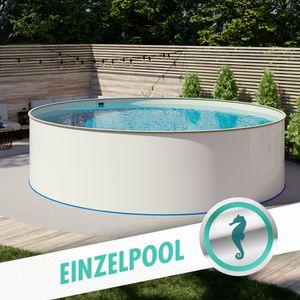 Pool Ø 6,00 x 1,35 m Folie sand 0,8mm EB, Stahl 0,7mm