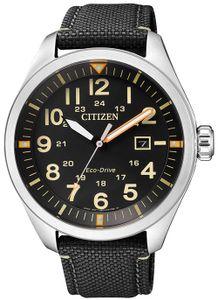 Citizen AW5000-24E Sport Uhr Herrenuhr Lederarmband Datum Schwarz