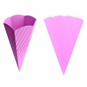 Creleo - Schultüten rosa aus 3D Wellpappe 68cm 5 Stück - Zuckertüte als Rohling zum basteln, bemalen und bekleben