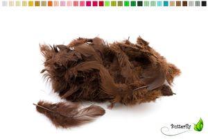 Bastelfedern 5-10cm, ca. 80-100 Stück, Farbauswahl:braun 870