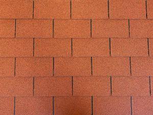 Isolbau Dachschindeln 2 m2 Rechteck Form Ziegelrot (14 Stk) Schindeln Dachpappe Bitumen