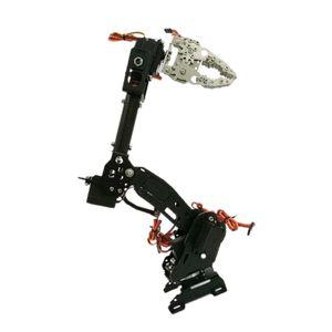 Schwarz 8-dof Roboter Arm Bausatz Baukasten Roboter-Arm inkl. Servo Griff, Programmierbare Roboter Arme