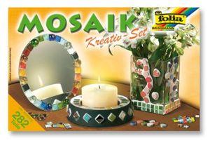 Folia 575720 Mosaik Steine Jumbo Kreativ-Set, mehrfarbig, 282-teilig (1 Set)