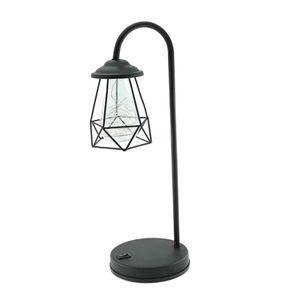 Moderne Tischlampe USB-Nachttischleuchte Geometric Modeling Light Warm White 17x15x31cm Warmweiß Art-Deco-Stil Nachtlicht
