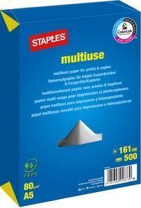 Staples Multiuse Papier weiß A5 80g 500 Bl