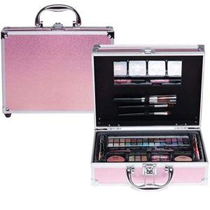 Schöne Shiny Pink Kosmetik Make-up ALU Koffer Schminkkoffer 45 tlg gefüllt by cosmelux(e343)
