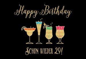 DeCoArt... SET 2 Glückwunschkarte Happy Birthday Schon wieder 29! BlackChili by Greyson & Rhys