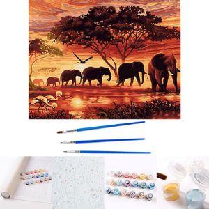 DIY Malen nach Zahlen für Erwachsene und Kinder DIY Ölgemälde Geschenk-Kits Geeignet für Wohnzimmer Wanddekoration, Wandmalerei 40x50cm -