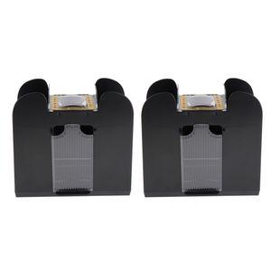 2x Elektrische Kartenmischmaschine, Kartenmischmaschine, Kartenmischer Poker Shuffler für Poker-Set, Brettspiel-Poker-Spielkarten