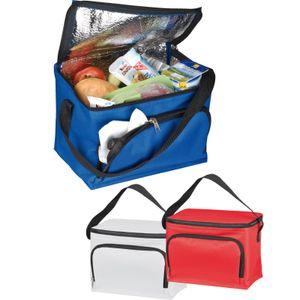 3x Kühltasche / Größe: ca. 200x150x150mm / Farbe: je 1x blau, rot und weiß