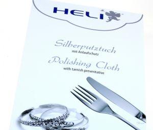 HELI Schmuck Pflege Tuch imprägniert  poliert schonend Silber