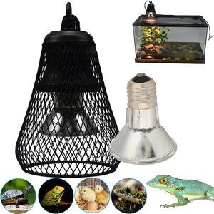 50W UVA UVB Reptile Pet Terrarium Brooder Heizung Lampe für Eidechse Snake Schildkröte mit Lampenschirm