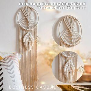 Traumfänger Makramee Wandbehang handgewebte Baumwolle Tapisserie Quaste Zimmer Nachbildung