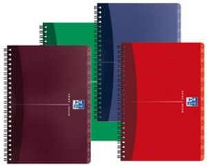 Oxford Office Registerbuch DIN A5 liniert Karton zufällige Farbe 90 Blatt (1Stk)