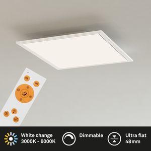 Deckenleuchte Panel dimmbar CCT inkl. Fernbedienung 18W Briloner Leuchten