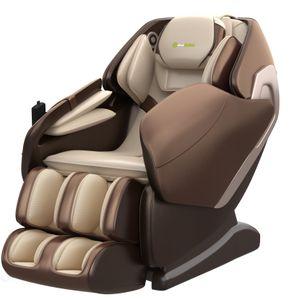 ASUKALE Massagesessel, SL-Track Schwerelosigkeit Shiatsu Massagestuhl Liegesessel für den Ganzkörper mit Musikmassage, Body-Scan-Technologie, Bluetooth, Luftdruckmassage Für Zuhause Büro Braun