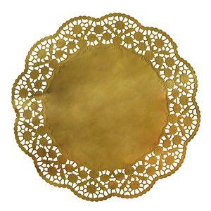 4 Tortenspitzen rund Ø 36 cm gold