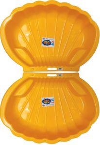 thorberg 2x gelbe Sandbox Sandkasten Sandmuschel Planschbecken groß 108x79cm XL