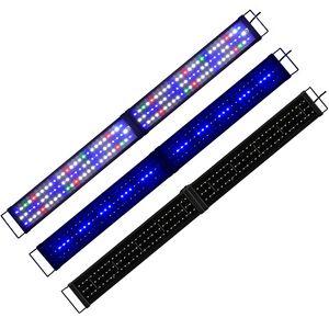 Boomersun 120-140 cm Klappbar LED Aquarium Beleuchtung Vollspektrum Lampe RGB/Weiß/Blau Aufsatzleuchte Licht Lampe Pflanzen