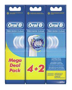 Oral-B Precision Clean Aufsteckbürsten Ersatzbürsten 4+2