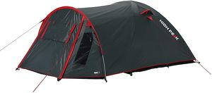 High Peak Kuppelzelt für 3 Personen mit Vorbau, Hochwertige 190T Polyester PolyurethanDunkelgrau-grün, tragbares Zelt wasserdicht 3.000 mm einfacher und schneller Aufbau
