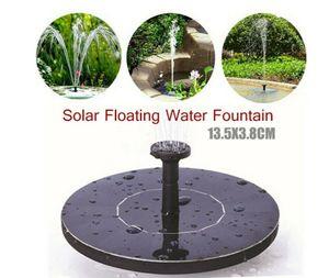 Ciskotu® Wasserspiel Springbrunnen Solar Pumpe Teichpumpe Brunnen Fontäne Teich Garten Mit 5 Verschiedenen Sprühmusterköpfen
