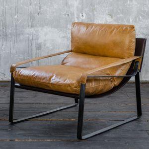 Sessel Vintage-Leder verschiedene Farben KAWOLA braun KUBE