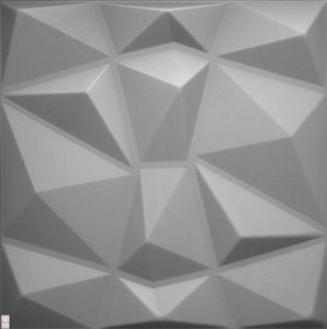 3D Wandpaneele Wandverkleidung Deckenpaneele Platten Paneele Diamant Grau Polystyrol XPS  (0,25qm)