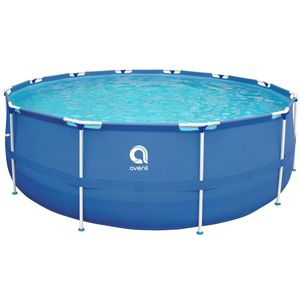 Avenli® Frame Pool 360 x 76 cm, Aufstellpool rund, ohne Pumpe,  blau