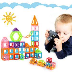 100stk Magnetische Bausteine Blocks, Magnetic Building Kinder Spielzeug ,Quadrat 40 Stücke + Dreieck 60 Stücke