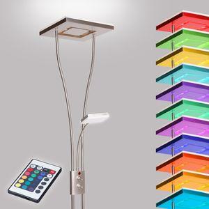 Deckenfluter LED mit Lesearm Stehlampe Stehleuchte Fluter RGB Fernbedienung Neu