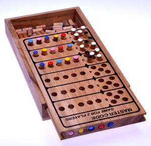 Code Finder für 2 Spieler - Spielfeld 21 x 12 cm - Master Code - Superhirn - Strategiespiel - Denkspiel - Logikspiel - Brettspiel aus Holz