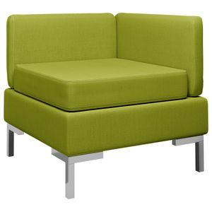 【Neu】Ecksofas Ecksofa Modular mit Auflage Stoff Grün Gesamtgröße:65 x 65 x 65 cm BEST SELLER-Möbel-Sofas im Landhaus-Stil