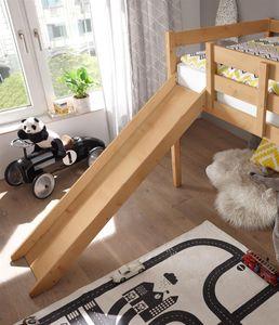"""Rutsche zu Jugendbett Bett Kinder Kinderbett """"Keni I"""" Kiefer Natur"""