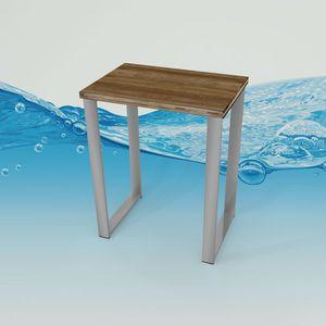 Acquavapore Duschhocker Duschsitz Duschbank mit Bambus Sitzfläche 01