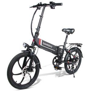 SAMEBIKE 20 Zoll Elektrofahrrad E-Bike E-Klapprad Fahrrad mit Motor 350W 48V10.4AH LCD Faltbar Schwarz