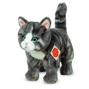 Teddy Hermann 91822 Katze stehend grau getigert ca. 20cm Plüsch Kuscheltier