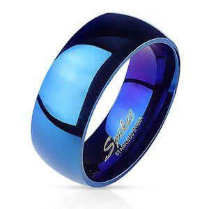 57 (18.1)Blauer Ring Edelstahl klassisch für Damen & Herren 49-70 (Fingerring Schmuckring Blue Partnerringe Damenring Herrenring Chirurgenstahl Frauen Männer)57 (18.1)