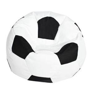 Sitzsackhülle Sitzsack Sitzkissen Sitzsäcke Abdeckung Fußball Bean Bag Kinderzimmer Deko 1 Weiß 80cm Sitzsack Sofabezug
