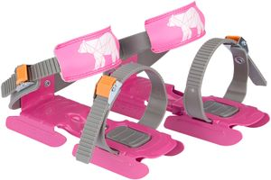 Nijdam Kinder Verstellbare Gleitschuhe Polar Bear Rosa/Grau/Orange Schuhe, Größe:OneSize