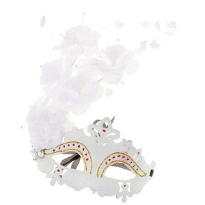 Vintage Venezianische Augenmaske Maskerade Maske Masquerade Kostüm Zubehör mit 3 小 仙女 + 大 花 wie beschrieben