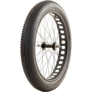 Fatbike Laufradsatz 26 Zoll x 4,0 Zoll einzeln oder als Set Fahrrad Mountainbike MTB mit Mittelsteg, Farbe:weiß, Ausführung:hinten