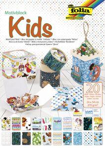 """folia Motivblock """"Kids"""" 240 x 340 mm 20 Blatt"""