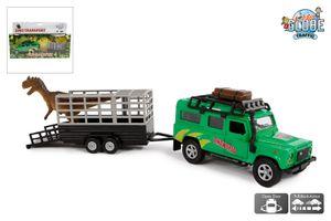 Toysquare Landrover Defender 110 Dinoworld Transporter mit Anhänger