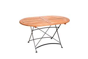 Merxx Schlossgarten Tisch, oval - Farbe: schwarz/braun - Maße: 140 cm x 90 cm x 75 cm; 24242-217