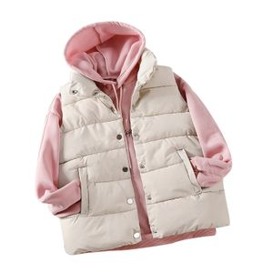 Mode Damen Weste Weste Gilet Jacke Mantel Outwear Solid Warm halten Tops Größe:S,Farbe:Weiß